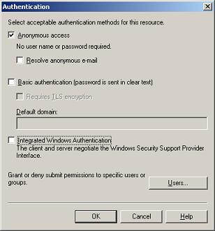 SMTP Authentication Settings