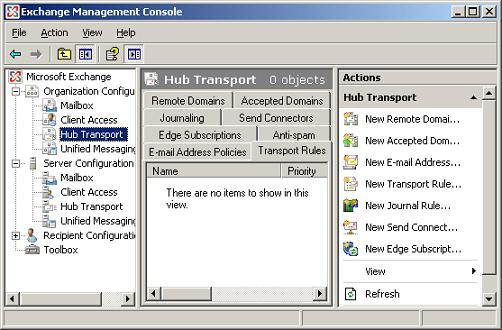 Exchange 2007 Hub Transport
