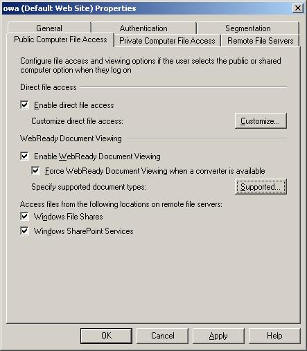 Configuring WebReady Document Viewing
