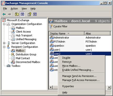 Manage Full Access Permission