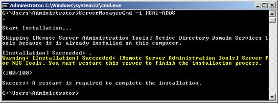 Active Directory Domain Services remote management tools