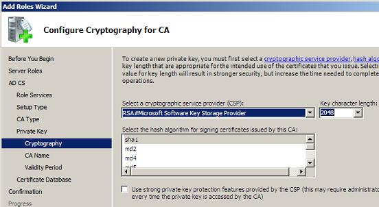 Cryptography Settings
