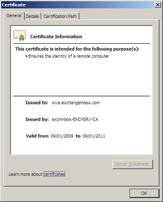 Certificate General Page
