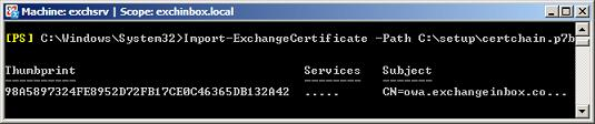 Import-ExchangeCertificate
