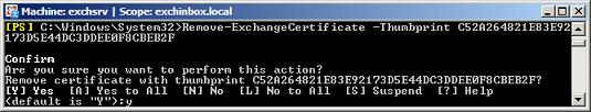 Remove-ExchangeCertificate