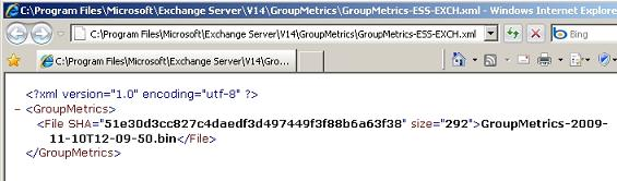 Group Metrics XML