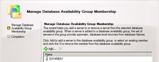 Manage Database Availability Group Membership - Add Server
