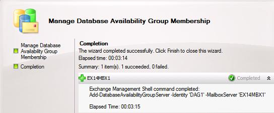 Manage Database Availability Group Membership - Finished