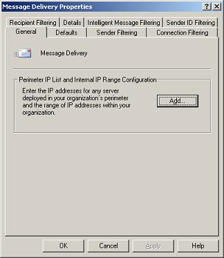 Message Delivery - IP Ranges