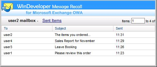 OWA Recall Email List