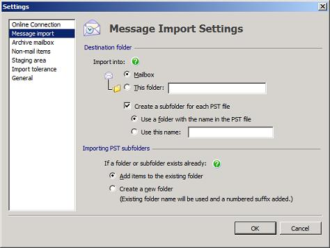 PST Capture Message Import