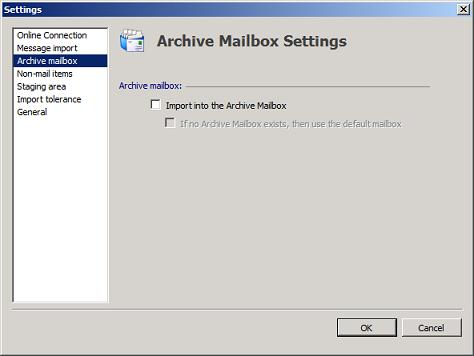 PST Capture Archive Mailbox