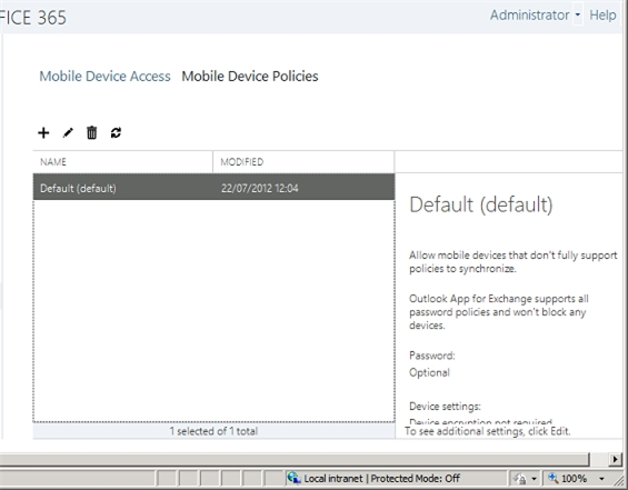 Exchange 2013 | Mobile | Mobile Device Policies