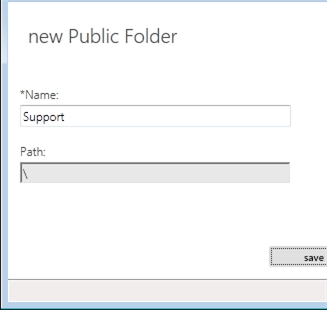 Exchange 2013 | Public Folders | Public Folders | New