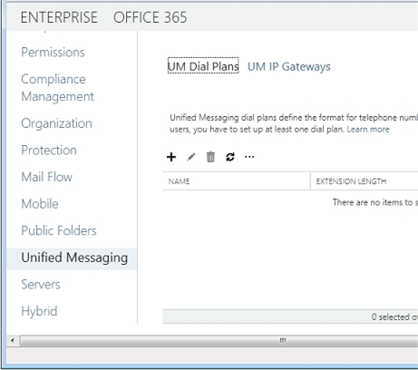 Exchange 2013 | Unified Messaging | UM Dial Plans