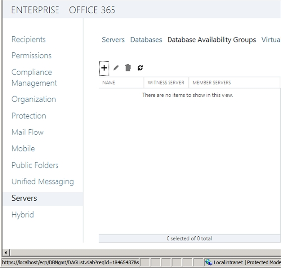Exchange 2013 | Servers | Database Availability Groups