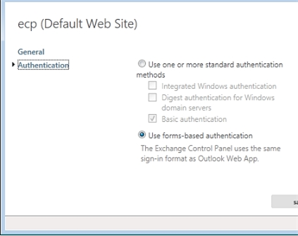 Exchange 2013 | Servers | Virtual Directories | Authentication