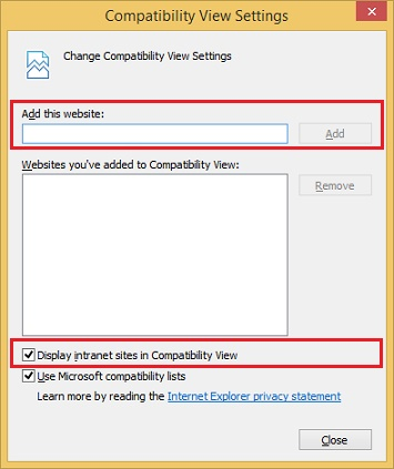 IE Compatibility View Mode