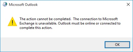 Outlook Connectivity Error
